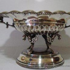 Antigüedades: PRECIOSO CENTRO DE MESA PLATEADO. Lote 26256528