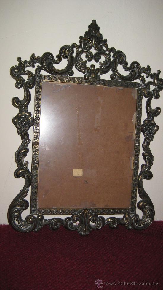 Marco de bronce antiguo ideal para hacer un b comprar - Hacer marco espejo ...