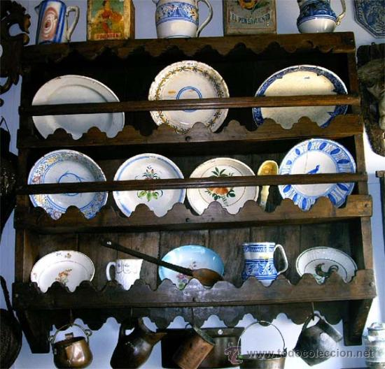 Antigüedades: Platero - espetera antiguo de madera. Medida 121x111x022 cm - Foto 2 - 25506716