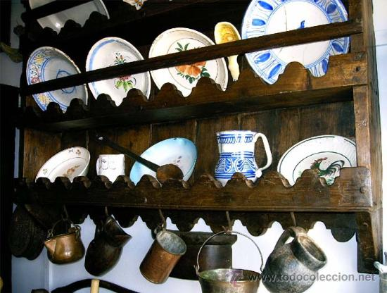 Antigüedades: Platero - espetera antiguo de madera. Medida 121x111x022 cm - Foto 3 - 25506716