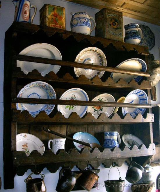 Antigüedades: Platero - espetera antiguo de madera. Medida 121x111x022 cm - Foto 4 - 25506716