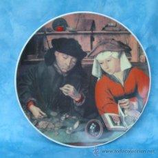 Antigüedades: PLATO DE COLECCIÓN, PINTURA ANTIGUA. GOEBEL.QUENTIN MASSYS, EL CAMBISTA Y SU MUJER, 1514. ALEMANIA. Lote 13029936
