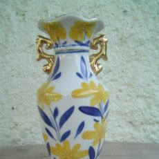 Antigüedades: JARRON DECORADO CON FLORES. Lote 13039029