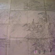 Antigüedades: ANTIGUO PATRON PARA BORDADOS 108 X 80 CM ,A DOS CARAS , , ENVIO GRATIS ,NUMERO 4. Lote 13066606