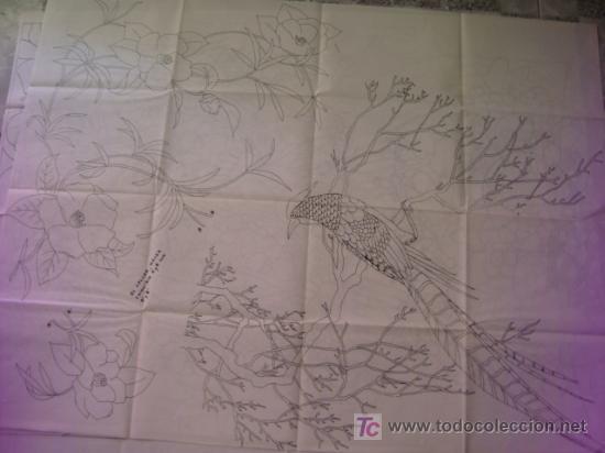 ANTIGUO PATRON PARA BORDADOS 108 X 80 CM ,A DOS CARAS , , ENVIO GRATIS ,NUMERO 11 (Antigüedades - Moda - Bordados)