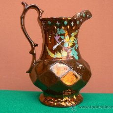Antigüedades: ANTIGUA JARRA CRISTIANAR. BRISTOL. REFLEJO METALICO.. Lote 24040371