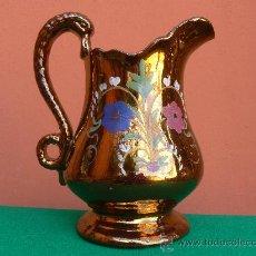 Antigüedades: ANTIGUA JARRA DE BRISTOL. REFLEJO METALICO.. Lote 24040375