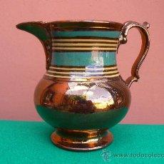 Antigüedades: ANTIGUA JARRA REFLEJO METALICO. BRISTOL.. Lote 15032786
