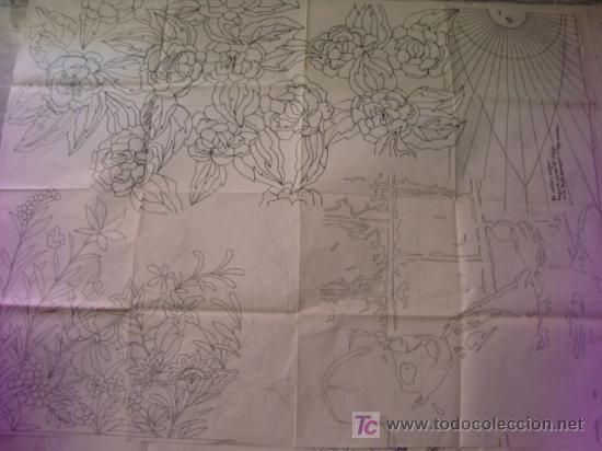 Antigüedades: antiguo patron para bordados 108 x 80 cm ,a dos caras , , envio gratis ,numero 3 - Foto 2 - 13066589