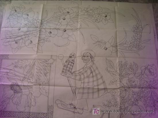 Antigüedades: antiguo patron para bordados 108 x 80 cm ,a dos caras , , envio gratis ,numero 8 - Foto 2 - 13066683