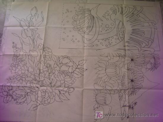 Antigüedades: antiguo patron para bordados 108 x 80 cm ,a dos caras , , envio gratis ,numero 10 - Foto 2 - 13066708