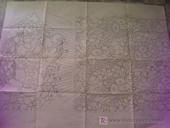 Antigüedades: antiguo patron para bordados 108 x 80 cm ,a dos caras , , envio gratis ,numero 11 - Foto 2 - 13066723