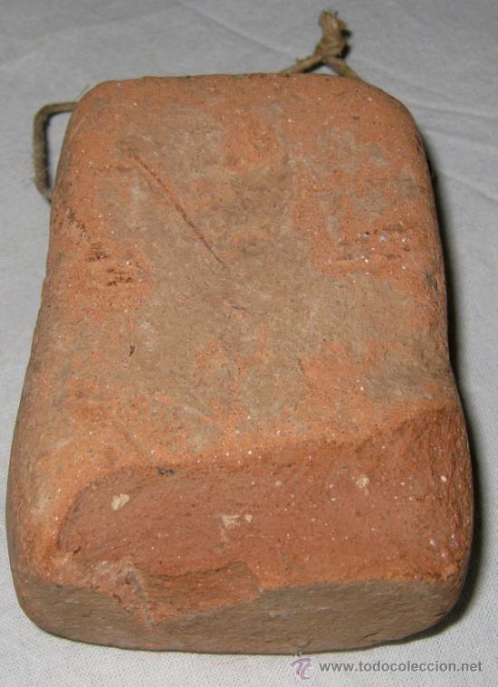 Antigüedades: ANTIGUA PESA DE TELAR PROBABLEMENTE ROMANA - PESA 265 GRAMOS - EN BARRO COCIDO O MATERIAL ARCILLOSO - Foto 2 - 25429827