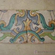 Antigüedades: PAREJA DE AZULEJOS. BARROCO VALENCIANO SIGLO XVIII. Lote 23671979