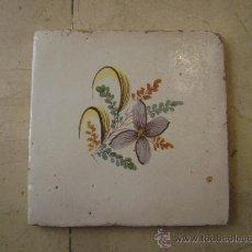 Antigüedades: AZULEJO VALENCIANO SIGLO XIX. Lote 18285047