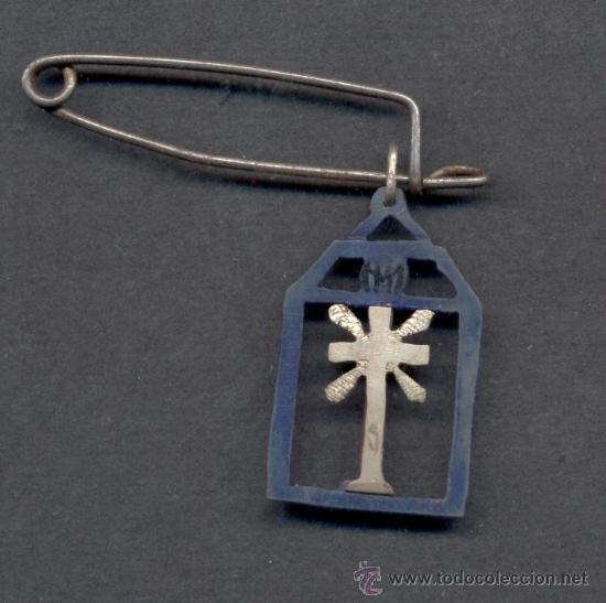 MEDALLA CRUCIFIJO SIN CRISTO (Antigüedades - Religiosas - Crucifijos Antiguos)
