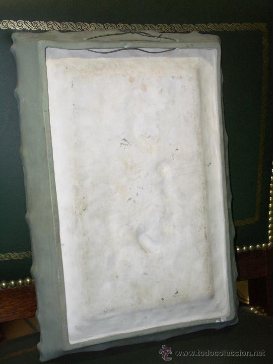 Antigüedades: EXTRAORDINARIO BISCUIT, GRAN PLACA ALTORELIEVE DE ANGELITOS, finales XIX pps XX - Foto 6 - 27573070