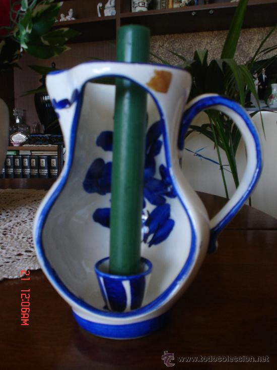 JARRON PORTAVELAS (Antigüedades - Porcelanas y Cerámicas - Otras)