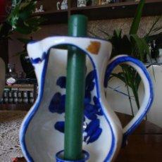 Antigüedades: JARRON PORTAVELAS. Lote 24886875