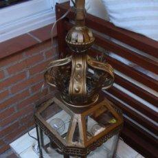 Antigüedades: ESPECTACULAR FAROL DE LATON. Lote 13153393