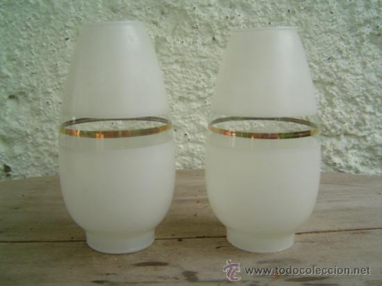 2 GLOBOS CRISTAL LAMPARA O APLIQUE (Antigüedades - Iluminación - Apliques Antiguos)