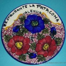 Antigüedades: PLATO DE 24 CM. RESTAURANTE LA PATACONA. VALENCIA. Lote 22171767