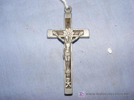 CRUZ EN METAL (Antigüedades - Religiosas - Cruces Antiguas)