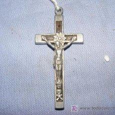 Antigüedades: CRUZ EN METAL. Lote 39235496