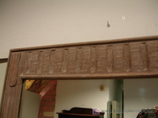 Antigüedades: ESPEJO DE MADERA A JUEGO CON APARADOR ESTRECHO - Foto 3 - 27410855