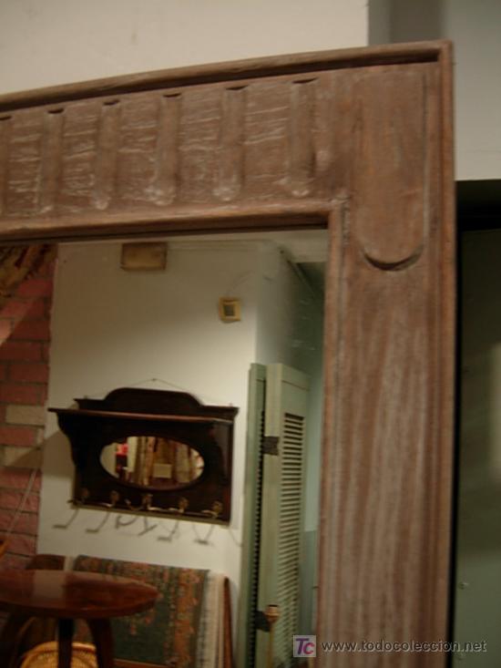 Antigüedades: ESPEJO DE MADERA A JUEGO CON APARADOR ESTRECHO - Foto 4 - 27410855