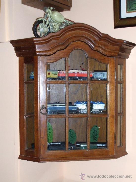 Vitrina de roble rinconera de colgar comprar vitrinas - Vitrinas para colgar ...