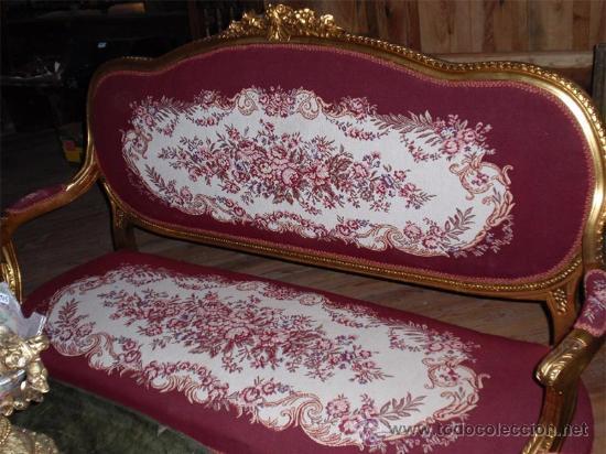 Antigüedades: sofa de 3 plazas y mesa . Estilo antiguo. - Foto 2 - 26029807