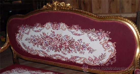 Antigüedades: sofa de 3 plazas y mesa . Estilo antiguo. - Foto 3 - 26029807