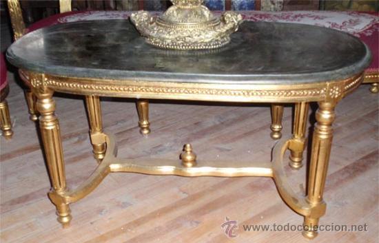 Antigüedades: sofa de 3 plazas y mesa . Estilo antiguo. - Foto 5 - 26029807