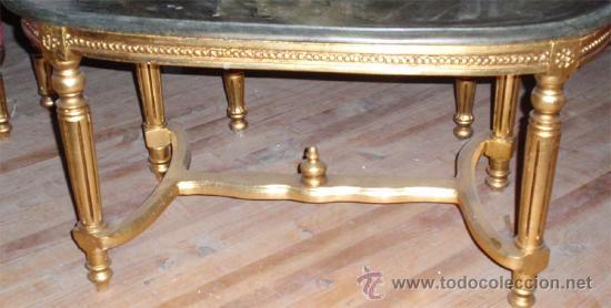 Antigüedades: sofa de 3 plazas y mesa . Estilo antiguo. - Foto 6 - 26029807