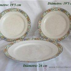 Antigüedades: TRES PLATOS ANTIGUOS SAN JUAN DE AZNALFARACHE. Lote 27059567