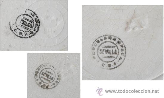 Antigüedades: TRES PLATOS ANTIGUOS SAN JUAN DE AZNALFARACHE - Foto 4 - 27059567