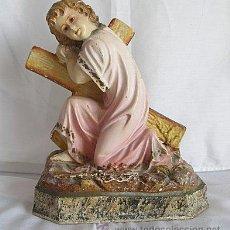 Antigüedades: NIÑO JESUS DE OLOT CON LA CRUZ. Lote 26917378