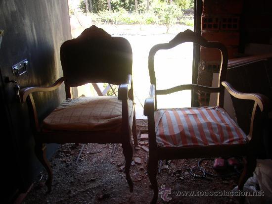 Par de sillones para restaurar comprar sillones antiguos en todocoleccion 24342728 - Sillones antiguos para restaurar ...