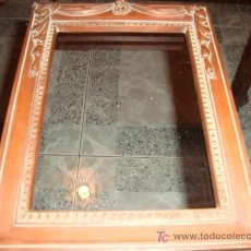 Antigüedades: CUADRO RESINA IMITANDO MADERA, 17 X 23. Lote 13912311