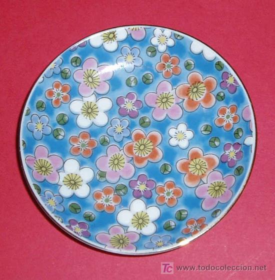 PEQUEÑO PLATO. MADE IN JAPAN. MARCA EN REVERSO. DIAMETRO 9 CM (Antigüedades - Porcelana y Cerámica - Japón)