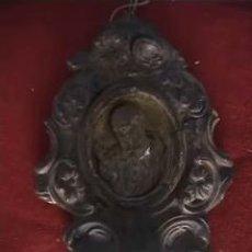 Antigüedades: BENDITERA ESPUMA DE MAR MADERA TALLADA CERAMICA 21CM. Lote 13628549