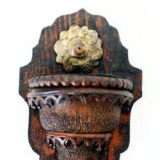 Antigüedades: BENDITERA DE MADERA - S. XIX - XX - PIEZA RARA. Lote 27615469