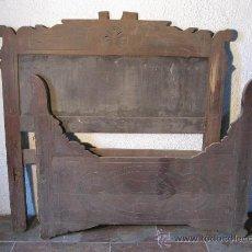 Antigüedades: CAMA ISABELINA MONTAÑESA DE GRANDES DIMENSIONES S. XIX. Lote 27538017