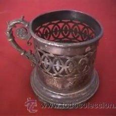 Antigüedades: VASO PLATA CONTRASTES MENESES MADRID. Lote 13838756