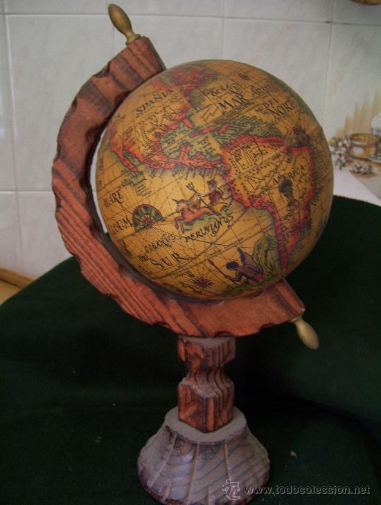 bonita esfera bola terrquea con mapa mundi an  Comprar