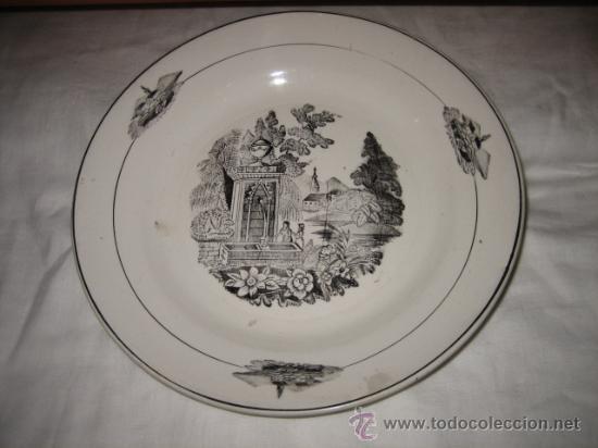 PLATO LA ASTURIANA GIJON (Antigüedades - Porcelanas y Cerámicas - Santa Clara)