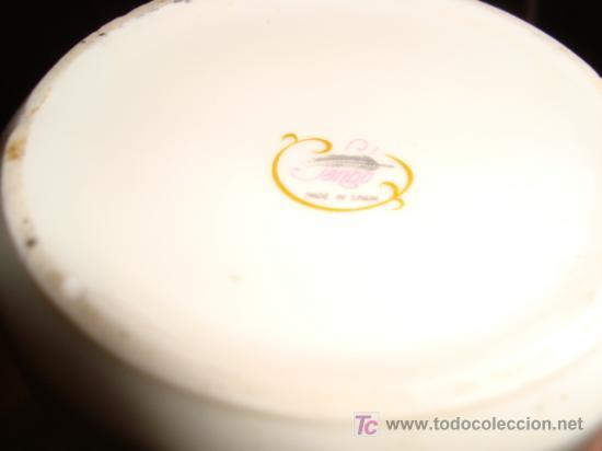 Antigüedades: juego de 3 piezas porcelana sanbo, altura maxima 16 cm, - Foto 3 - 22312872