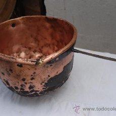 Antigüedades: ANTIGUO Y RARO CAZO DE COBRE ESPAÑOL DEL SIGLO XIX. Lote 26382068