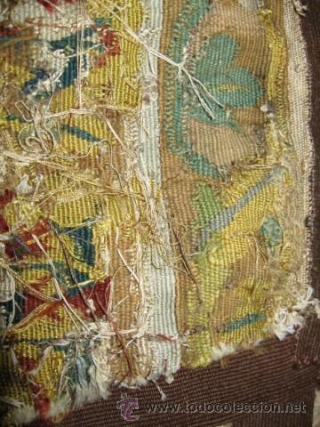 Antigüedades: ENORME TAPIZ DE TELAR RECTANGULAR, ESCENAS MITOLOGICAS SG.XIX. COLOR VIVOS, REMATE MARRON - Foto 12 - 26673513